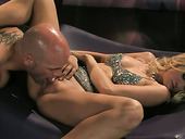 Butter face Jessica Drake gives a head and gets poked in a missionary position