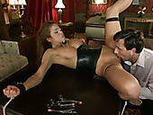 Horny master loves to pump and lick pussy of seductive maid