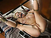 Submissive bondageable blond head Adrianna Nicole is analfucked by Lee Stone