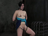 Horny bondage master puts a duct tape over her slave's mouth