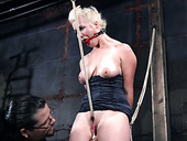 Blond bitch Niki is punished in the torture room