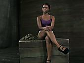 Ebony sex-slave fulfills all orders of perverted master