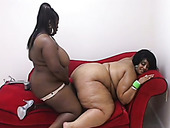 Super fat black lesbians are fond of fingering each other's meaty cunts