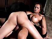 Huge breasted wondrous brunette cowgirl doesn't mind taking DP for orgasm