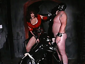 Cunning and sexy dominatrix with big tits wants this couple to entertain her