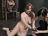 Black master punishes two pale sex-slaves