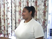 Chunky whore with giant boobs gives her BF an amazing blowjob