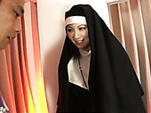 Naughty Nun Rika Sakurai gets her ass hole vibrated