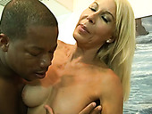 This lascivious mature woman with big tits is a gifted blowjobber