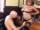 Curvy shemale hooker getting her cock sucked deepthroat