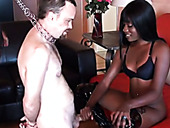 Hot ebony chick Cashmere knows how to give a good handjob