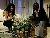 Classy brunette mommy gets drilled by an eager black neighbour
