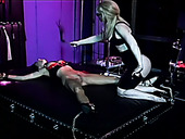Dominant Nina Hartley makes Venus groan while fucking her with toys