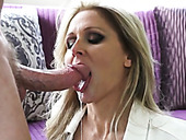 Divine blonde MILF  Julia Ann pleases horny man Mark Wood