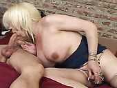 Cum-thirty shemale enjoys swallowing thick and hard cock
