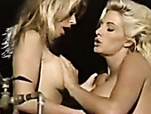 Two stunning vintage babes Amber Lynn, Holly Body in classic XXX video