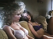 Wondrous vintage black and blond haired lesbians with big boobies masturbate