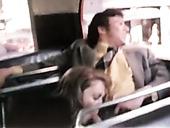Retro actors Darby Lloyd Rains, Levi Richards, Mary Stuart in vintage fuck clip