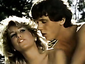 Classic porn actors Melissa Melendez Candie Evans, Tom Byron in college porn of 1970