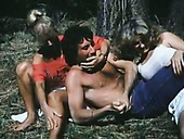 Michelle Bauer Anna Ventura Victoria Knoll arrange dirty threesome sex in the forest