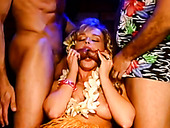 Wild and cock hungry vintage blondie takes double penetration (MMF)