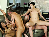 Three married couples fuck in hardcore orgy having swinger party