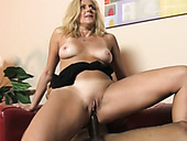 Mature slut Dana Devine is penetrated in her both fuck holes