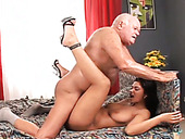 Saucy brunette slut nailed hard in a missionary position