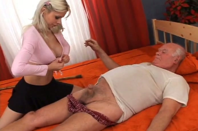 Grandpa gets blowjob