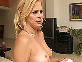 Just the cutest blonde milf porn stars on the shoot