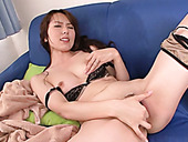 Wondrous Japanese cutie Yui Hatano goes nuts while fingering her pussy