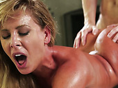 Kinky Ryan Mclane doggy fucks tasty looking busty mom hard
