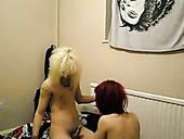 Freaky blond guy doggy fucks his slutty redhead GF greedily