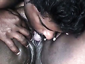 Chunky Indian anon whore gets her shaved pussy licked by Indian buddy