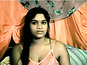 Indian ugly plump bitch goes solo and fingers her meaty cunt on webcam