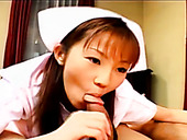 Ugly Japanese nurse is giving awesome blowjob to her patients