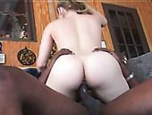 Pale bootylicious horn-mad blond head Kayla Marie rides super fat BBC