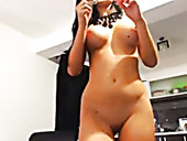 This video shows just how beautiful and horny this busty webcam model is