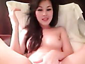 Irresistibly hot Asian chick loves masturbating on cam