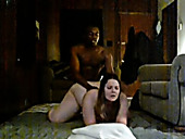 Caucasian BBW whore fucked doggy style by hunky black dude