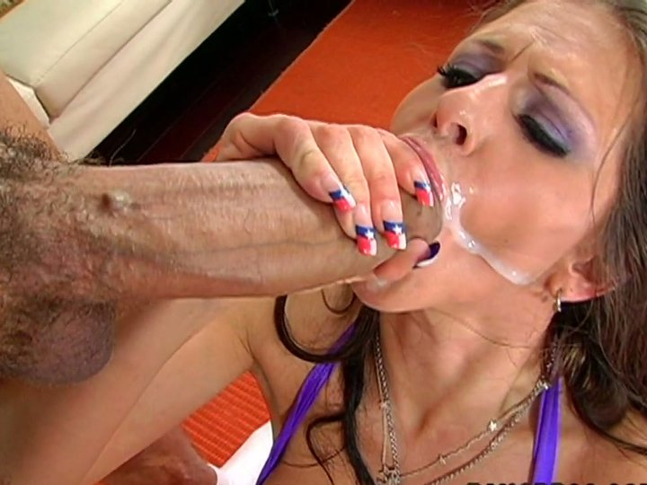 image Bitch gets cum in her asshole