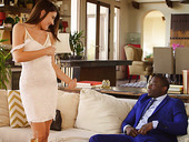 Captivating beauty Adria Rae fucks big black dick