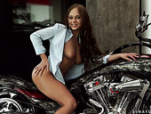 Cool biker chick Ariel Temple gets horny after rimjob and allows dude to drill anus hard