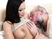 Old fart drills super hot brunet milf Samantha Rebeka