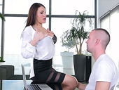 Adorable secretary Kitana Lure is having anal sex in the office