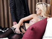Alluring blonde Sienna Day rides her man after good blowjob
