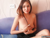Cute Asian is having sex ended with creampied pussy scene