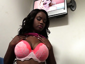 Ebony whore Jezabel Vessir is having fun in the glory hole room