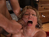 Mature whore Lorin gives blowjob to a new client and rides his pole reverse