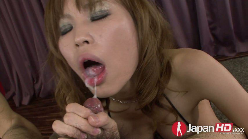 Japanese whore Ai Sakura licks hairy anus and gives blowjob